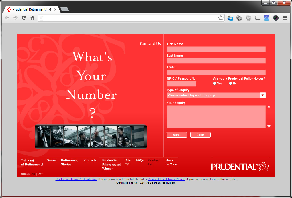 "Prudential ""What's Your Number?"" (Microsite)"